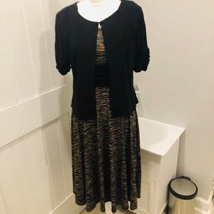Perceptions Petite  (2 pc.) Dress with shrug